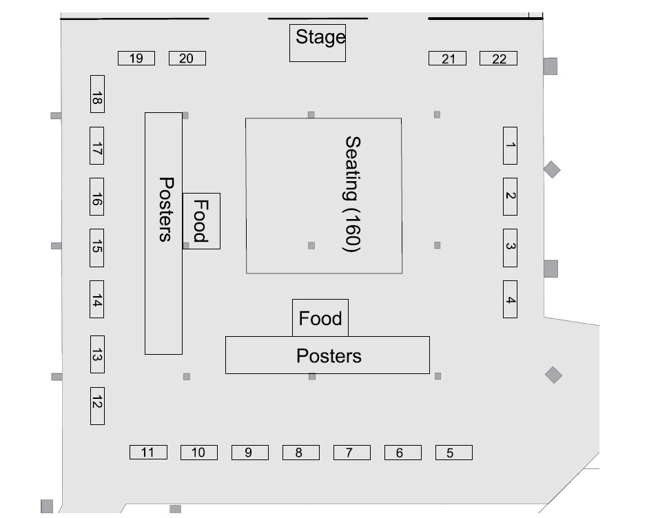 Exhibit Hall layout